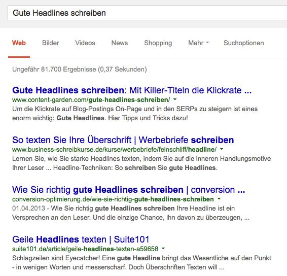 Auf Suchanfragen liefert Google semantisch verknüpfte Antworten - deshalb lohnt es sich, bei den Keywords zu variieren und möglichst viele Varianten des Suchbegriffs abzudecken. Screenshot: S. Cantzler