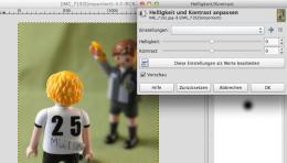Mit den Funktionen Helligkeit und Kontrast kommen mehr Licht und kräftigere Gegensätze ins Spiel. Screenshot: S. Cantzler