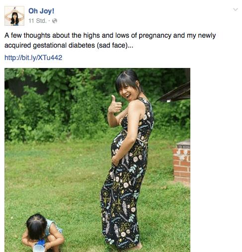 Ein in den Text eingebetteter Link wird von den Nutzern laut Facebook eher angeklickt als ein Link, der sich in der Bildunterschrift findet. Screenshot: Oh Joay!/Sandra Cantzler