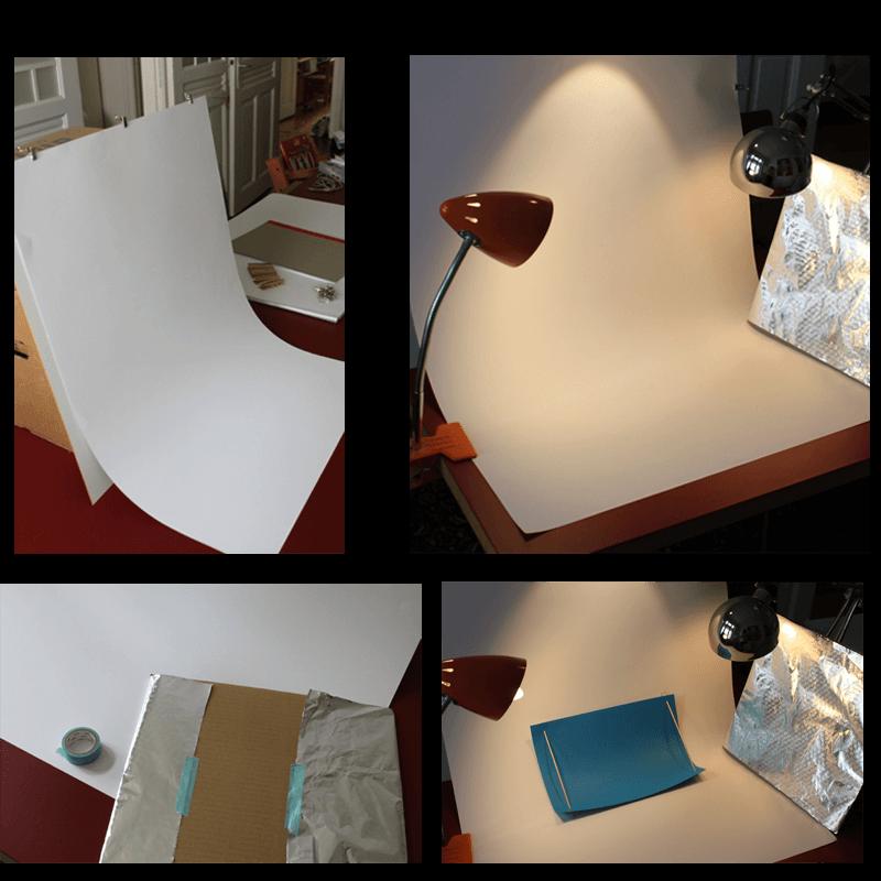 Für eine DIY-Fotobox brauchst Du nur ein paar Materialien wie Fotokarton, Alufolie und zwei Schreibtischlampen. Fotos: Sandra Cantzler