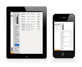 Einnahmen und neue Programme immer im Blick: Die mobile App von affilinet ermöglicht auch unterwegs eine einfache Verwaltung. Screenshot: affili.net