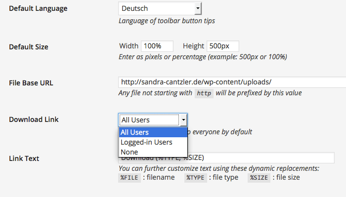 """Alle oder keiner? Im Bereich """"Settings"""" könnt Ihr regeln, wer Eure Inhalte herunterladen darf. Screenshot: S. Cantzler"""