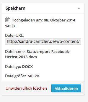 Kopiert als nächsten Schritt die Datei-URL. Screenshot: S. Cantzler