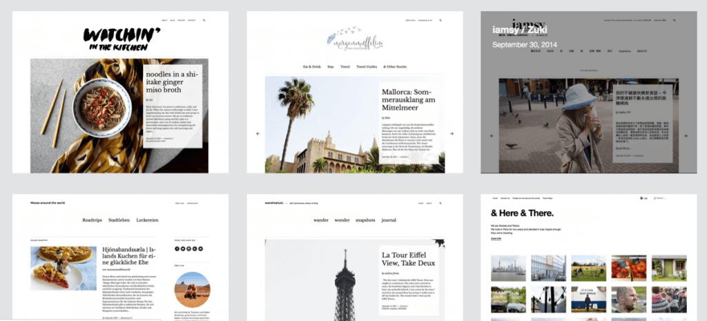 Ein Theme, sechs verschiedene Umsetzungen: Showcases auf den Webseiten der Entwickler geben Euch einen Eindruck davon, was sich aus einem Theme alles machen lässt. Screenshot: Elma Studio