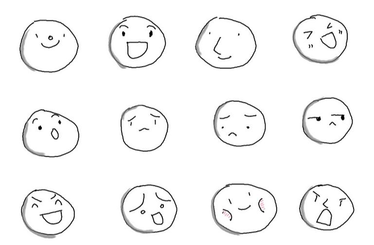 Ein bisschen mehr als Punkt, Punkt, Komma, Strich, aber für alle machbar: Sketchnotes-Basic für Einsteiger. Illustration: pheminific.de