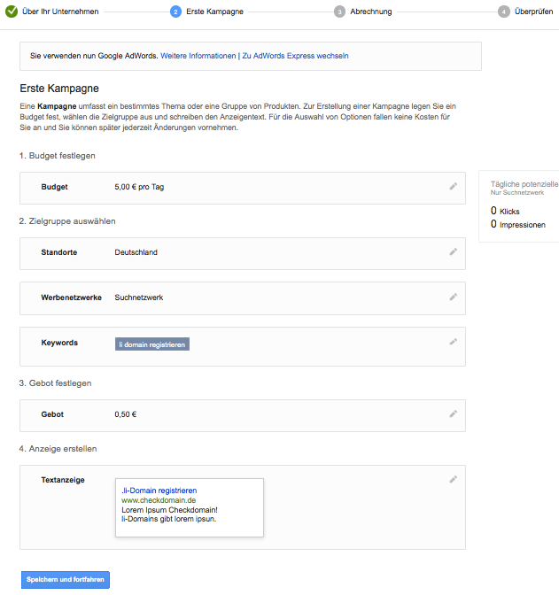 Adwords Setup