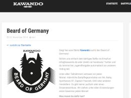 """Deutschland sucht den Superbart: Um kawando.de zu promoten, sucht Anna Kempe gerade den """"beard of Germany"""". Foto: kawando.de"""