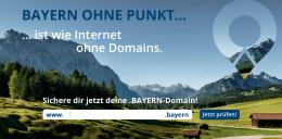 Strenggenommen keine City-TLD, aber enorm erfolgreich: Die .bayern-Domain kommt inzwischen auf mehr als 30 000 Registrierungen. Foto: nic.Bayern
