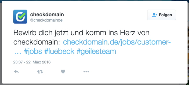Screenshot: checkdomain