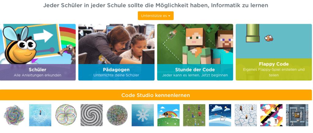 Webdesign als Spiel: code.org vermittelt Schülern die Grundlagen des Programmierens. Screenshot: code.org
