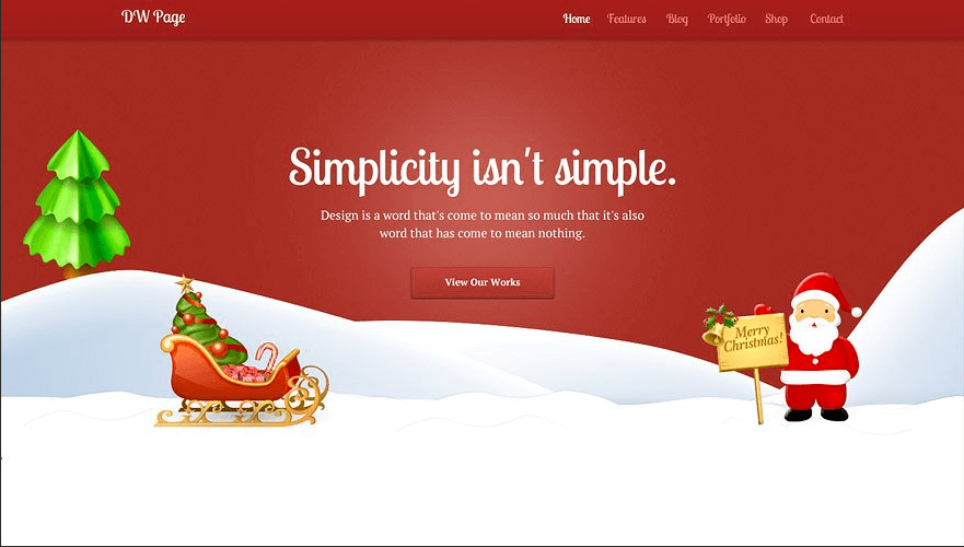 Quelle: https://creativemarket.com/designwall/1753-DW-One-Page-Christmas-WP-Theme