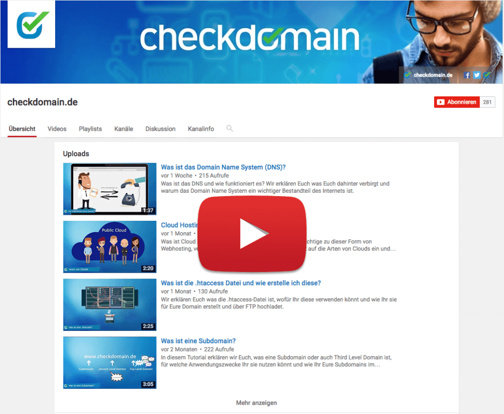 YouTube Channel checkdomain