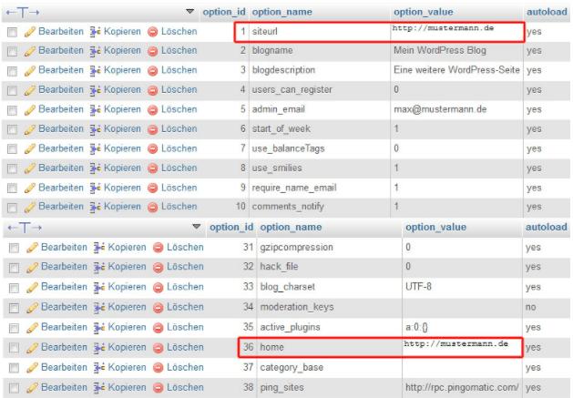 MySQL Datei anpassen