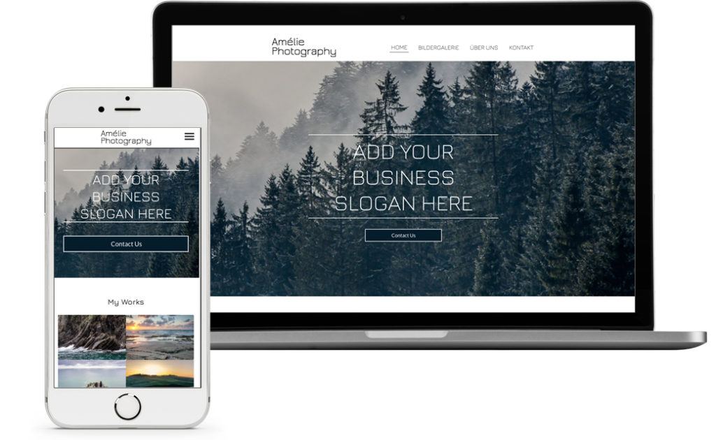 Homepage Baukasten - Template Fotografen