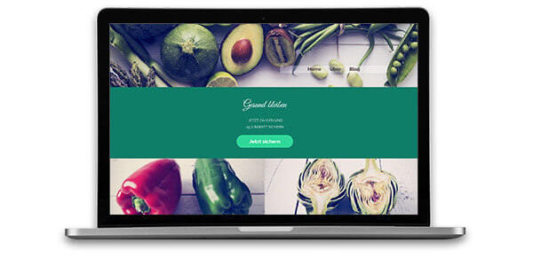 Homepage-Baukasten, Food Blog Template
